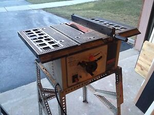 Shop craft table saw with stand