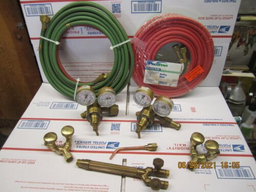 Cutting Torch Lot Hoses-Gauges-Y Fittings-Tip-Torch Body    ( Must See )