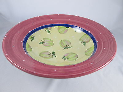 "Fruit Punch Essex Collection Serving Bowl 12 3/4"" Apples Heather Outlaw Kurpis"