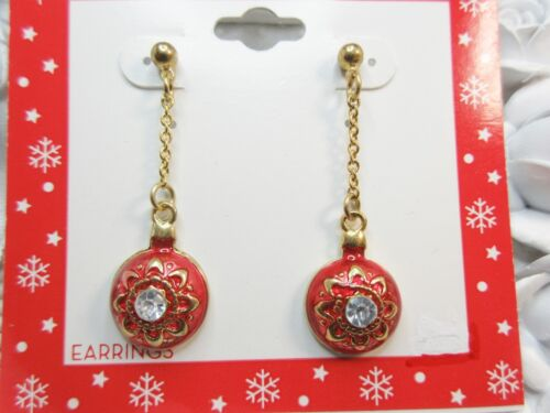 NEW Holiday Celebrations by Christopher Radko Christmas Ornament Earrings Signd