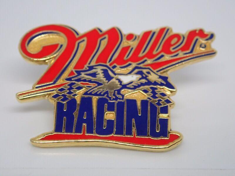 Miller Racing Vintage Gold Tone Enamel Lapel Pin