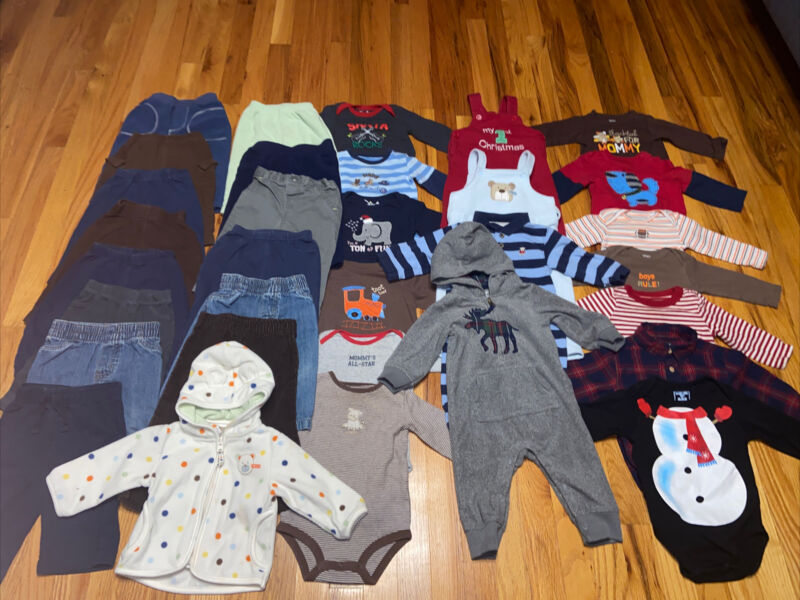 9 Months Baby Boy Fall Winter Clothes Lot
