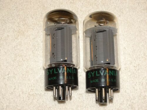 2 x Sylvania Tubes*Very Strong Matched Pair*1966*