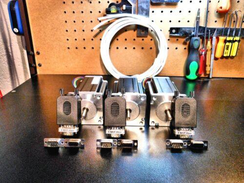 Gecko G540 3 300oz Motor Kit 18/4 Shielded Cable, & Pro-Solderless Connectors