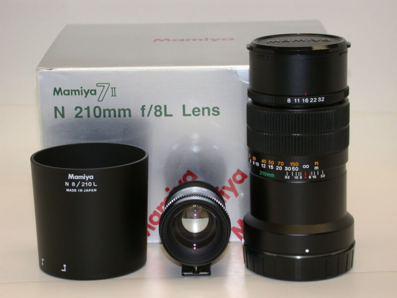 Mamiya 7 / Mamiya 7 II 210mm/8 LENS (with VIEWFINDER)