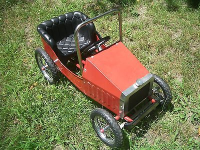 WOW!! NICE ORIGINAL FULL SIZE OLD TIME PEDAL CAR, L@@K, EX++!