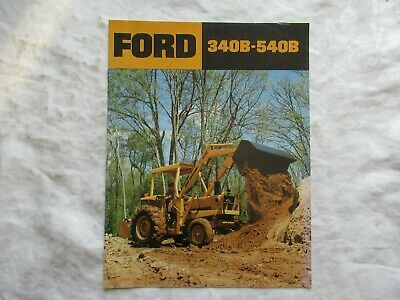 Ford 340b To 540b Tractors Loaders Backhoes Brochure