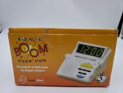 Sonic Boom Alert Alarm Clock W/ Super Shaker Deep Sleepers SB-1000