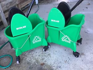 Two New Double Chamber Eco Lab Mop Buckets