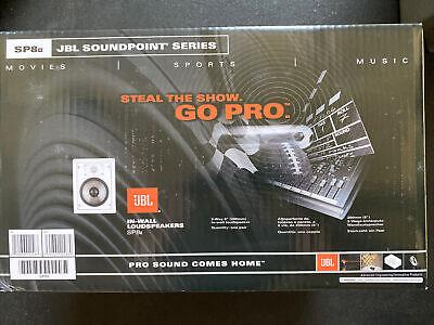 """Pair JBL SP8II In-Wall 2 Way 8"""" Stereo Speakers in Unopened Box"""