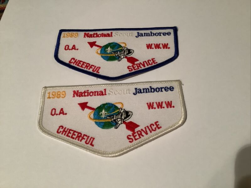 OA Cheerful Service Flaps from 1989 National Scout Jamboree