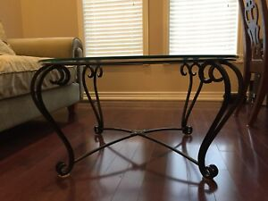 Iron Coffee table and End table