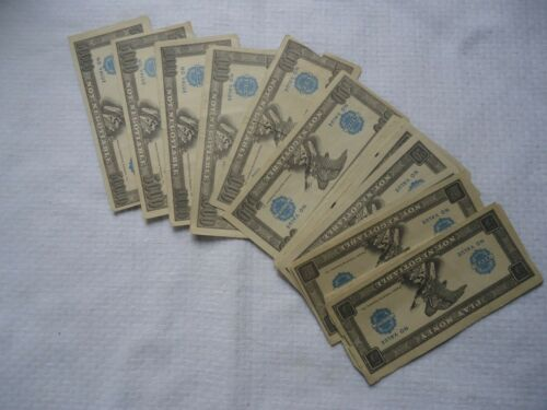 Large Vintage Set of Play Money by Whitman Publishing 20 Pieces