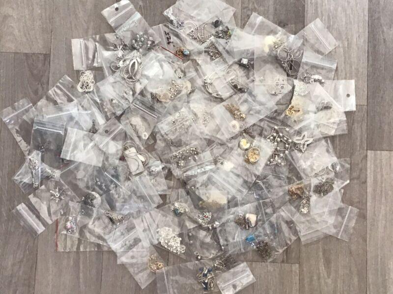 100 Piece LOT Sterling Silver 925 Necklaces Pendants