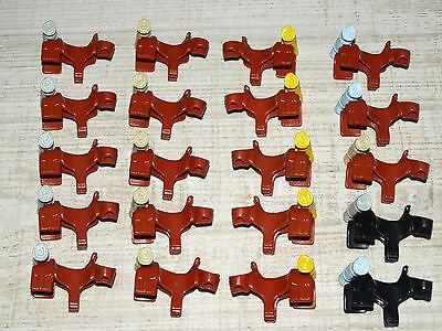 Playmobil 20 x Western-Sättel mit Decken