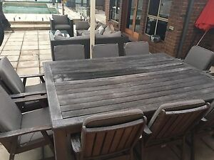 Timber outdoor dining seats 10 Tea Tree Gully Tea Tree Gully Area Preview