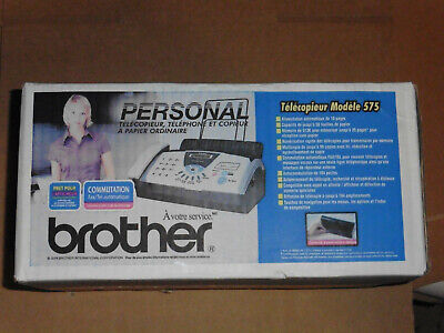 Brand New Brother Fax-575 Personal Plain Paper Fax Phone Copier