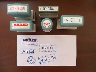 Vintage Office Stamp Lot Of 5 - Original Confidential Mailed Copy Void
