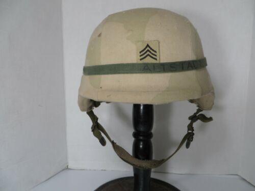 Iraqi Freedom US Army Sgt PASGT desert helmet, all original SPP Small