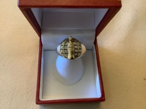 Sterling Silver Coca Cola Coke on Sterling Silver Signet Ring