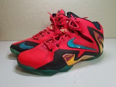 new style b71ba 07062 Nike Lebron XI 11 Size 10 Mens Super Hero Pack Laser Crimson 642846 600