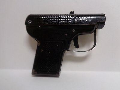 RARE VIKNTAGE BROWNING BLACK PAINTED TIN TOY GUN PISTOL CIGARETTE BOX