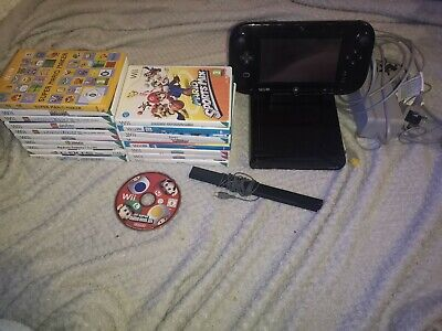 Wii U Premium 32gb Black With 19 Games Bundle