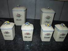 Retro / Vintage set of 6 kitchen canisters Golden Grove Tea Tree Gully Area Preview
