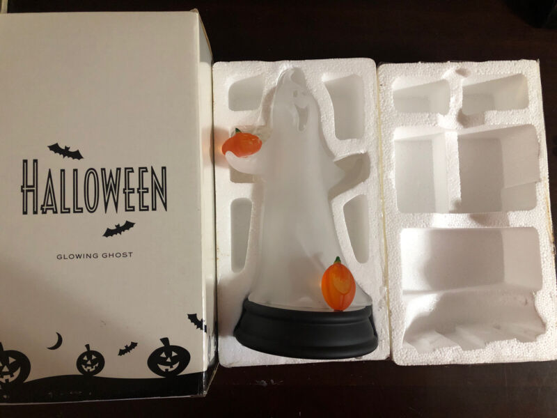 """Avon 2002 Halloween Glowing Ghost Lighted Color Changing w/Box & Packaging 12"""""""