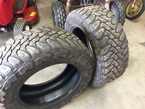 Two tires . Toyo 35 inch aggressive side wall for 20 inch rim