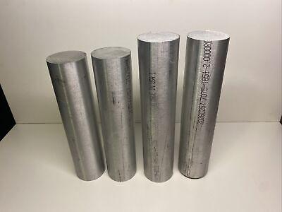 2 Aluminum Round Bar Stock 7075 T651 Lot Of 4 34 Total Length