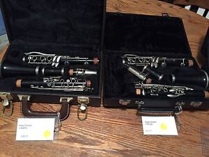 Selection of clarinets.