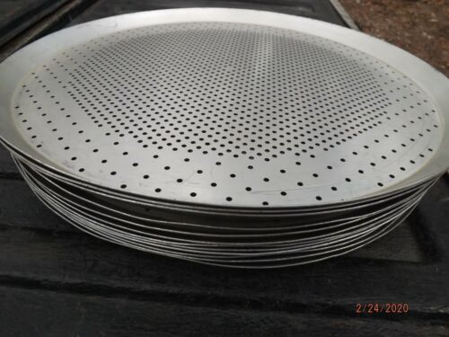 """10 pizza pans  15""""  Commercial Pizza Pans/Perforated for Crispier Crust"""