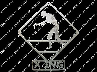 Zombie Crossing Metal Wall Art Sign Dorm Bed Room Mancave Decor Christmas Gift Dorm Room Christmas Decorations