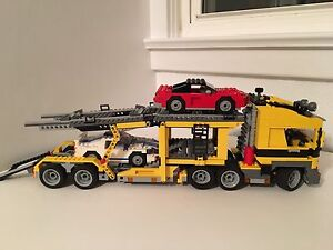 Large truck and cars