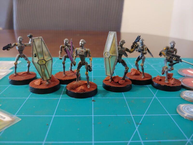 star wars legion painted bx-series droid commandos