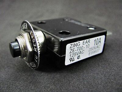 10a Push Button Thermal Circuit Breaker W Reset - 12-50vdc 125-250vac - B7010