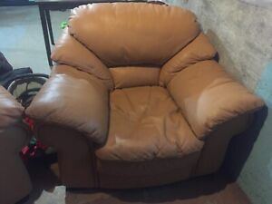 2 Chairs Italian leather