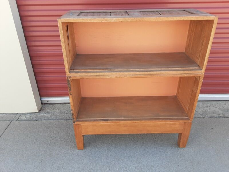 Vintage Globe Wernickie 3 Piece Stacking Bookcase with Base