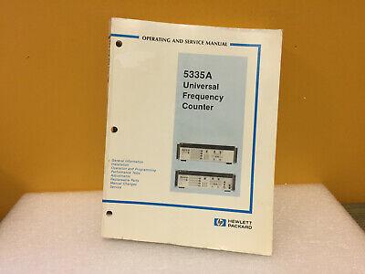 Hp Agilent 05335-90021 5335a Operating Service Manual
