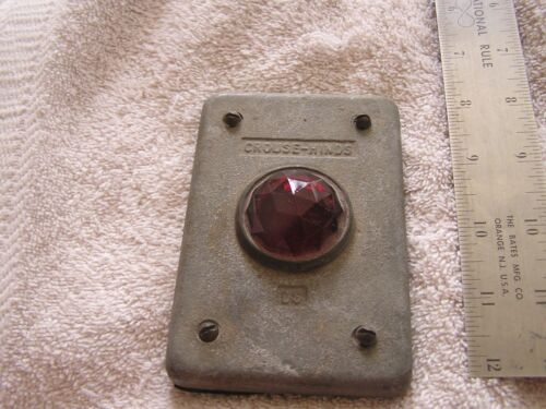 Vintage Crouse-Hinds DS Red lens