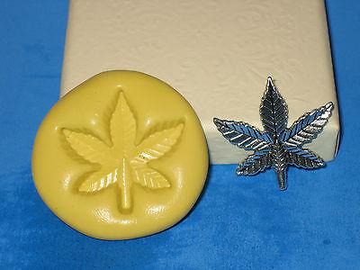 Pot Leaf Marijuana Silicone Push Mold A466 For Cake Chocolate Resin Clay Fondant