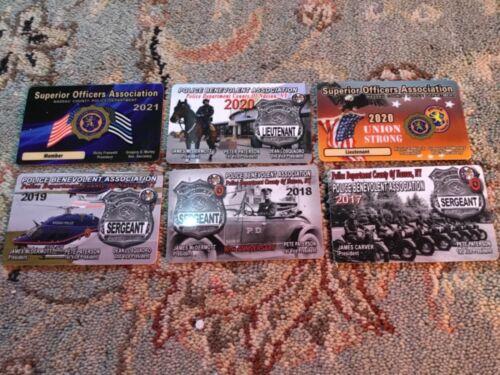 2021 NASSAU COUNTY POLICE PBA/SOA CARD+ 5 other SOA/PBA cards