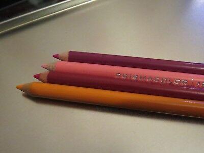 prismacolor premier pencils 4  single process red magents yellowed orange