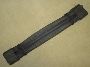 Awesome STUBBEN IRELAND Black RoughOut Leather Hidden Buckle Dressage Girth 25