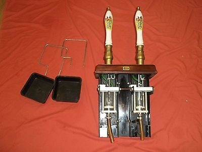 Rare Set Twin Double Angram Real Ale Beer Hand Pulls Pump Man cave Bar Pub