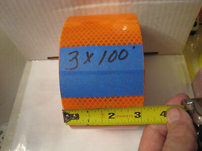 3m Brand Orange Reflective  Conspicuity Tape 3 X 100 Ft