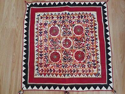 Classic Indian Vintage tribal banjara dress choli traditional womens Folk Mirror Hand Embroidery