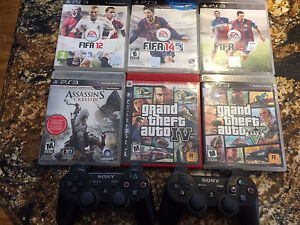 PS3 500 GB slim perfect condition 2 controllers & 6 games