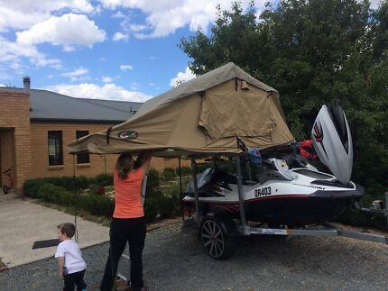 Kawasaki Ultra LX with camping set up